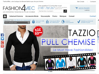 Fashion4mec, boutique de vetement fashion pour homme