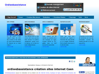 Ordiwebassistance création sites internet, sites e-commerce, sites vitrine