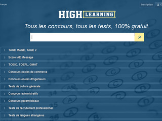 Tests de questions gratuites concours link : High learning